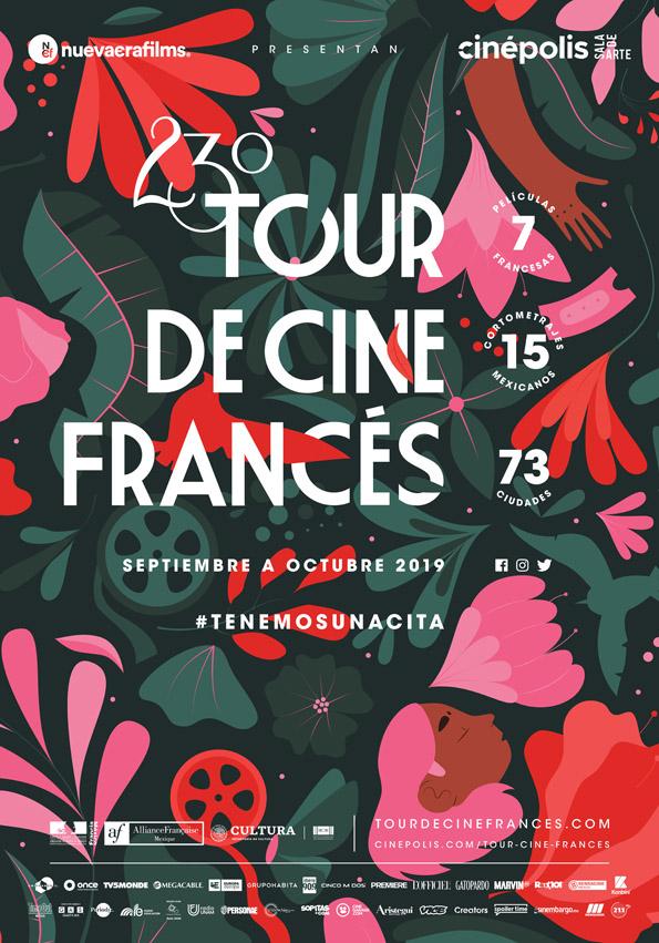 23ºTourdeCineFrancés del 6 de Septiembre al 24 de Octubre, gira por México y Centroamérica