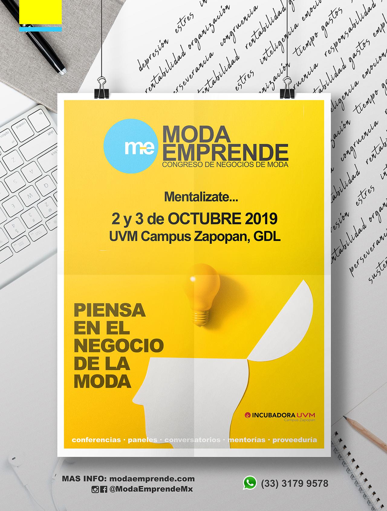 Moda Emprende 2019, 2 y 3 de Octubre en UVM Campus Zapopan