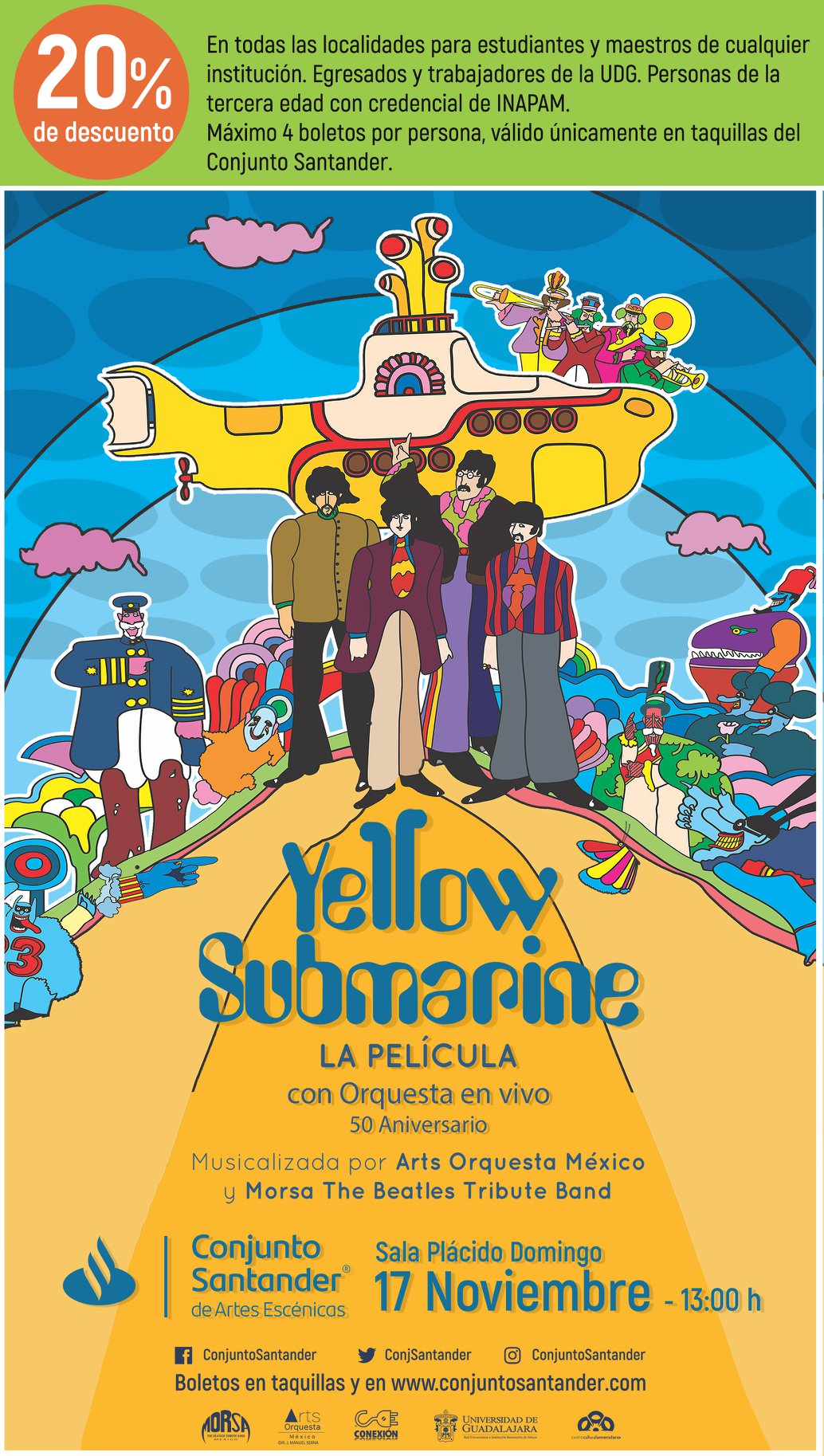 Yellow Submarine, La Película - 17 de Noviembre en Conjunto Santander