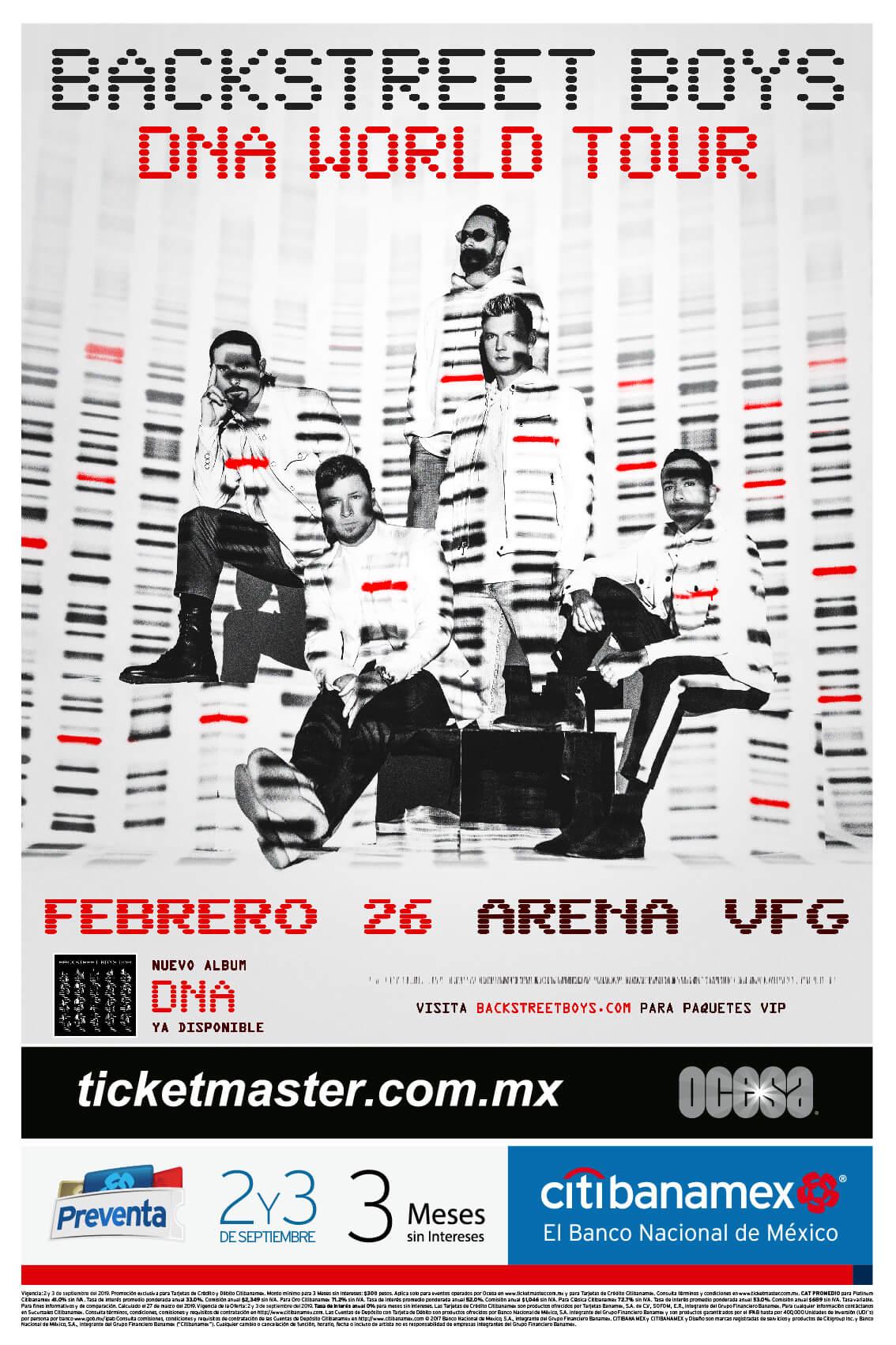 Backstreet Boys - 26 de Febrero en Arena VFG (SOLDOUT)