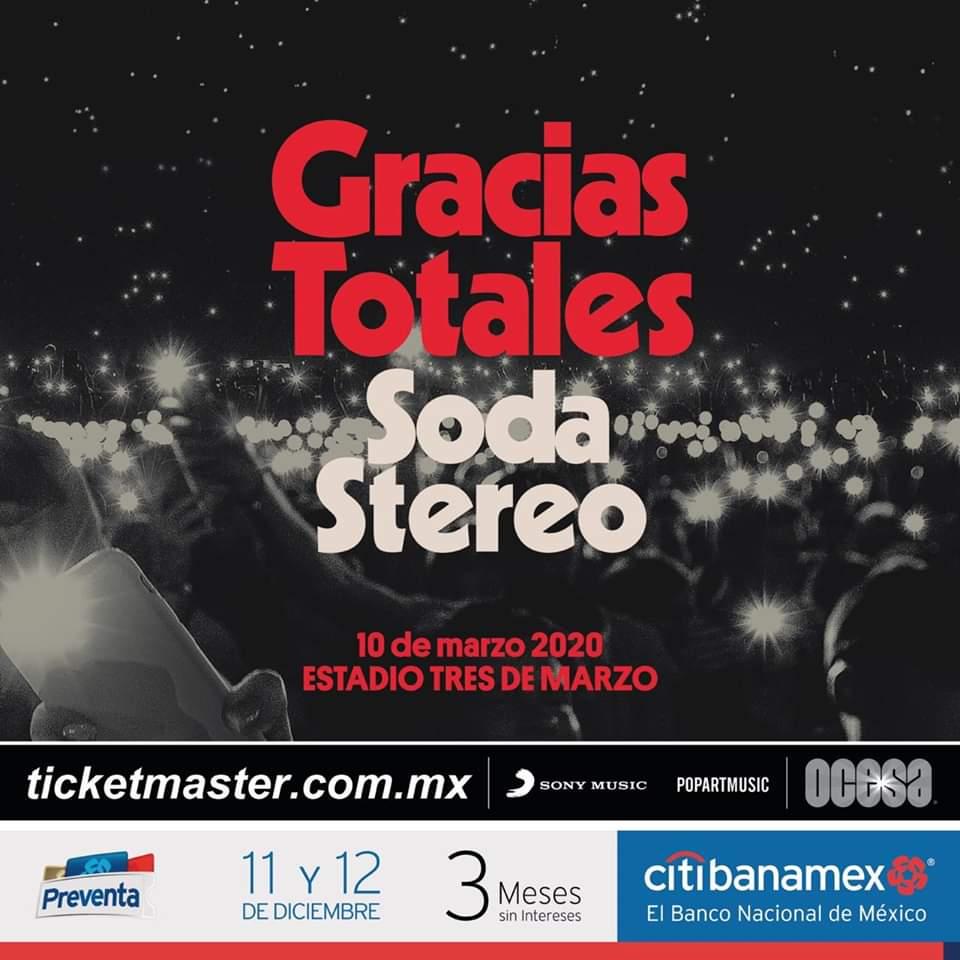 """Soda Stereo """"Gracias Totales"""", 10 de marzo, Estadio 3 de Marzo"""