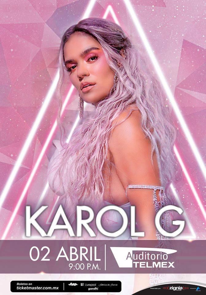 Karol G  - 25 de Noviembre en Auditorio Telmex