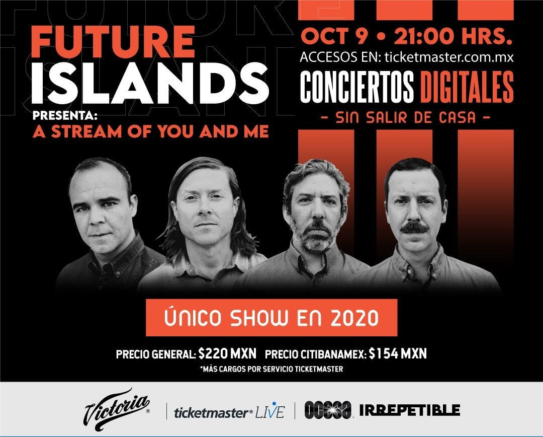 Future Islands en concierto IRREPETIBLE, 9 de octubre por Ticketmaster Live