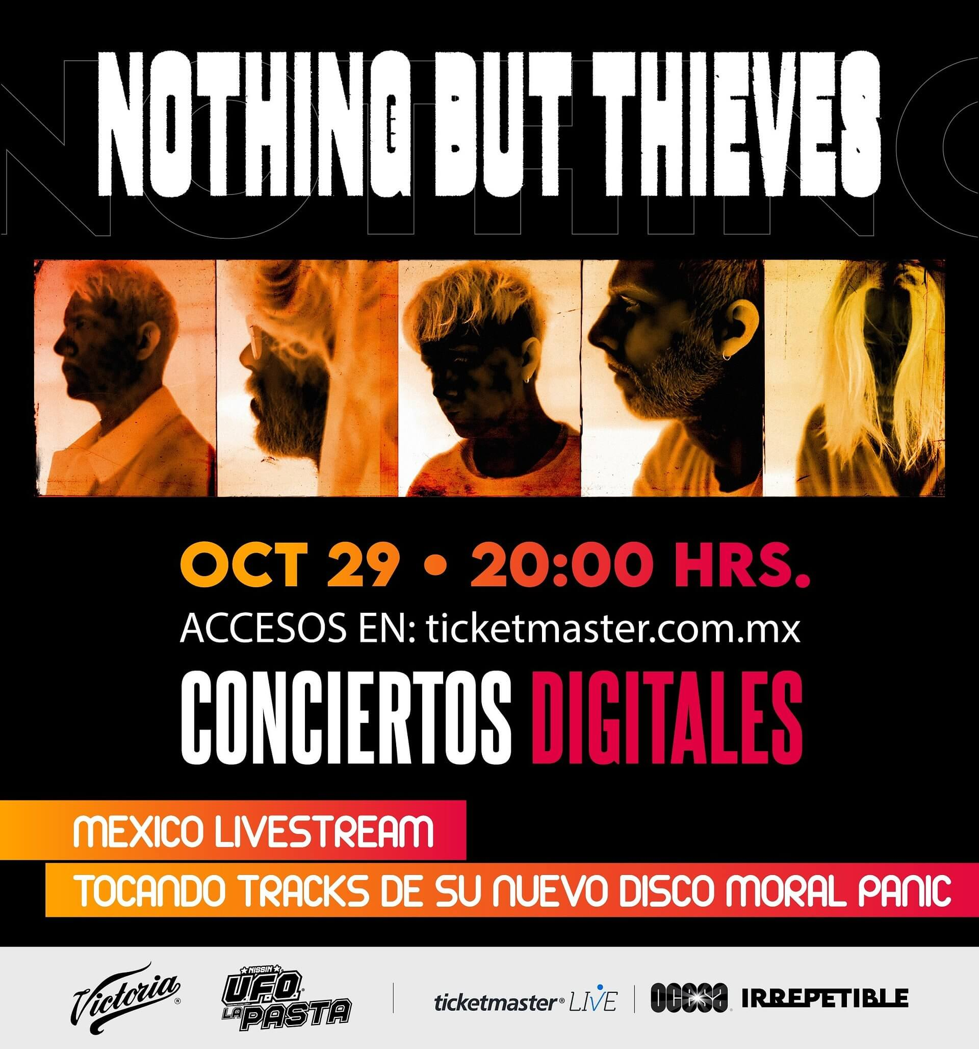 Nothing But Thieves IRREPETIBLE, 29 de octubre por Ticketmaster Live