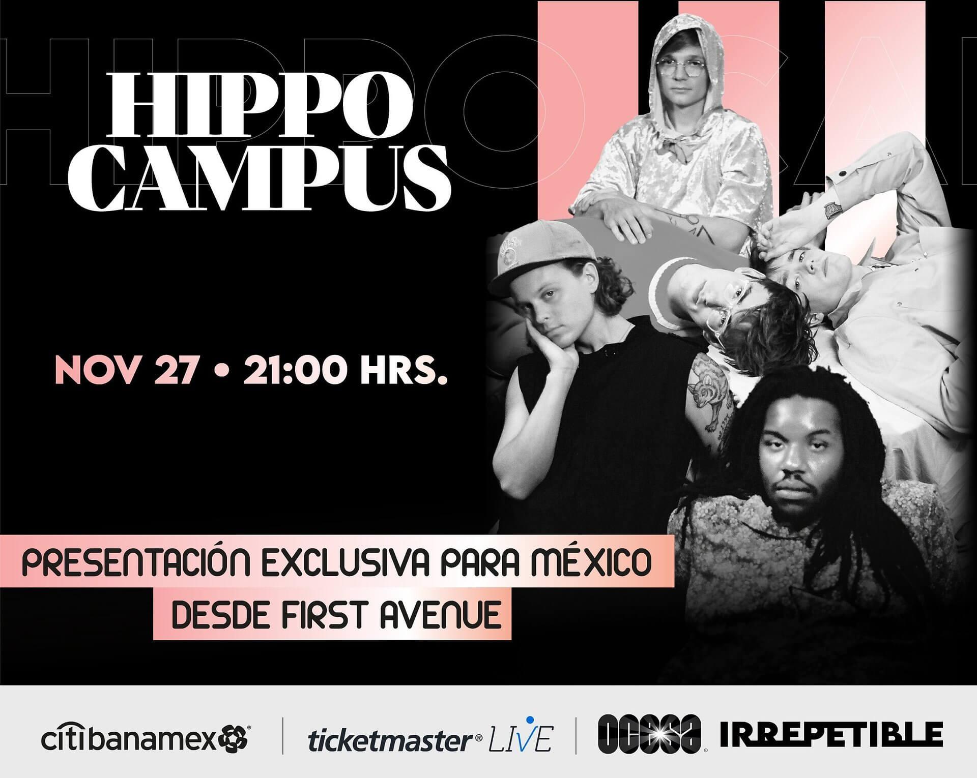 Hippo Campus IRREPETIBLE, 27 de noviembre por Ticketmaster Live